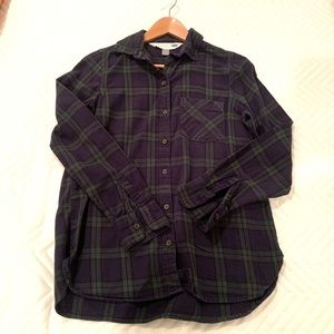 Old Navy plaid flannel button up